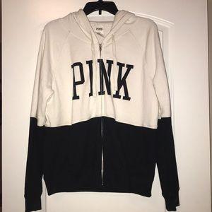 Pink Hoodie Zip-Up Jacket, Large, like new